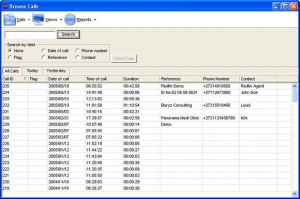 single line call recorder sort by date