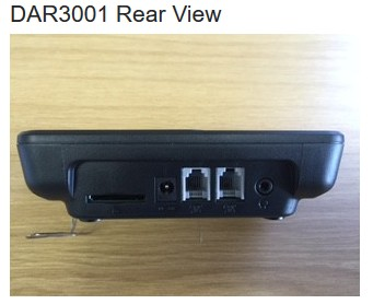stand alone call recorder rear view