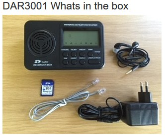 stand alone call recorder whats in the box